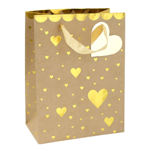 Presentpåse Hjärtan Guld - 1-pack