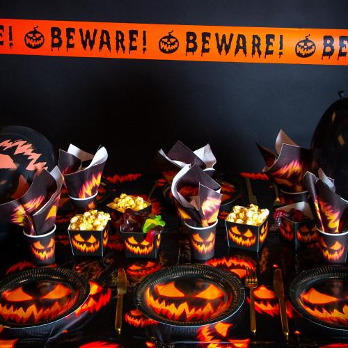 Halloweendukning Paket Läskig Pumpa