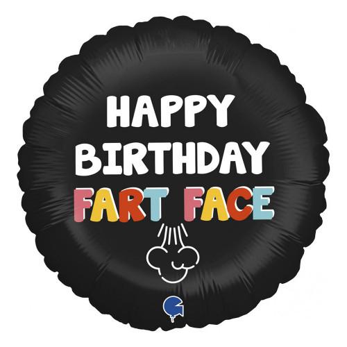 Folieballong Happy Birthday Fart Face