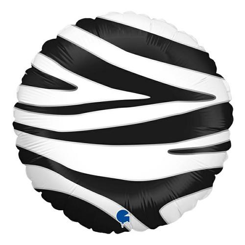Folieballong Zebra Striped