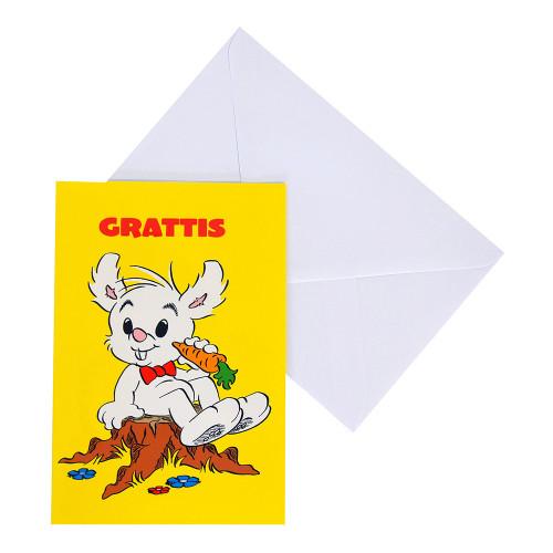 Gratulationskort Bamse