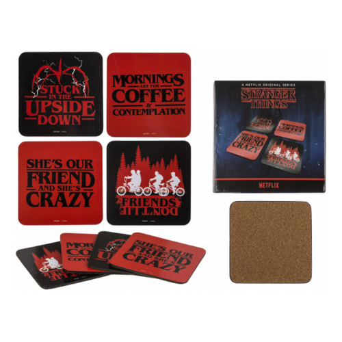 Drinkunderlägg Stranger Things - 4-pack