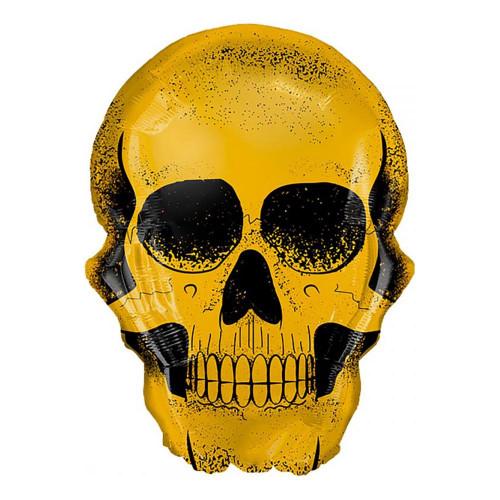 Folieballong Golden Skull Shape