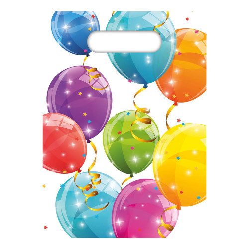 Kalaspåsar Ballonger Skimrande - 6-pack