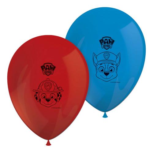 Latexballonger Paw Patrol Röd/Blå - 8-pack
