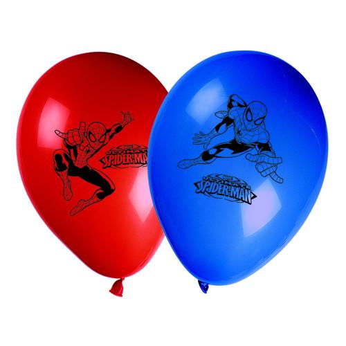 Latexballonger Spider Man Röd/Blå - 8-pack