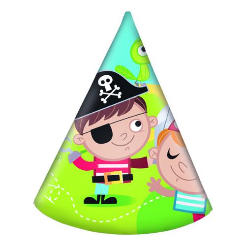 Partyhattar Piratbarn - 6-pack