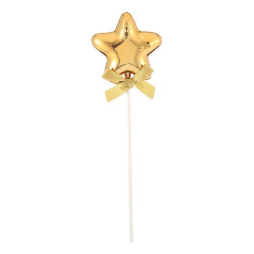 Tårtdekoration Stjärna Guld med Rosett