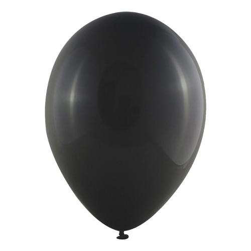Latexballonger Mini Metallic Svart - 100-pack