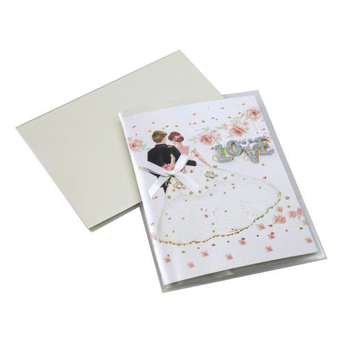 Kort Handgjort Bröllopspar