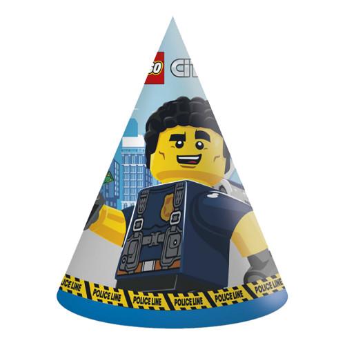 Partyhattar Lego City - 6-pack
