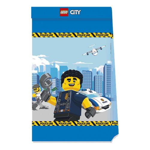 Kalaspåsar Lego City Blå - 4-pack