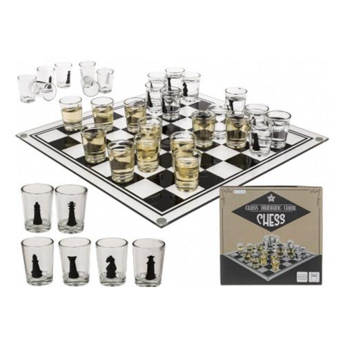Schackspel med Shotglas