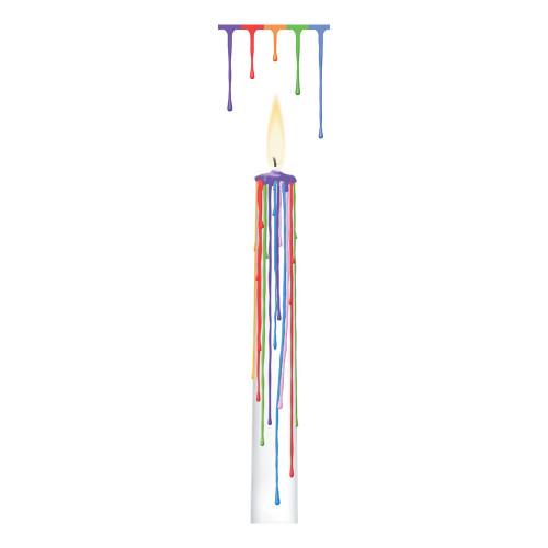 Drip Candle Flerfärgad - 2-pack
