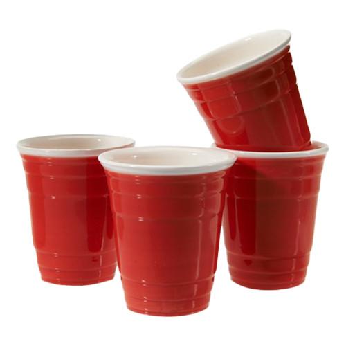Shotglas Partycups i Keramik - 4-pack
