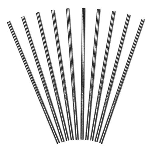 Papperssugrör Silver Metallic Klassiska - 10-pack