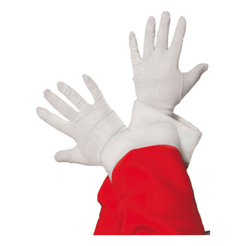 Vita Handskar Ribbade