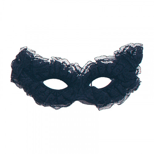 Svart Venetiansk Carnivalmask - One size