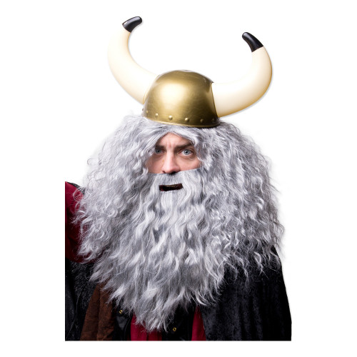 Vikingahjälm med Stora Horn - One size
