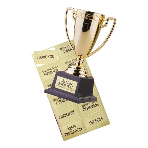 Pokal med Klistermärken