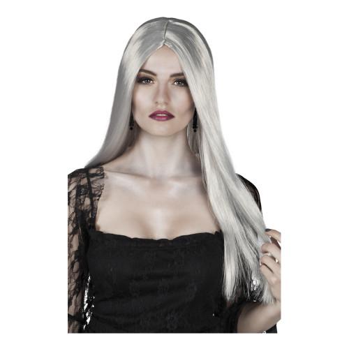 Häxa Silvergrå Peruk - One size
