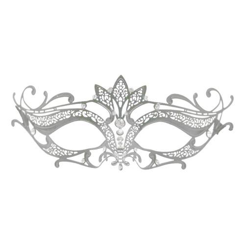 Metall Venetiansk Halvmask - One size