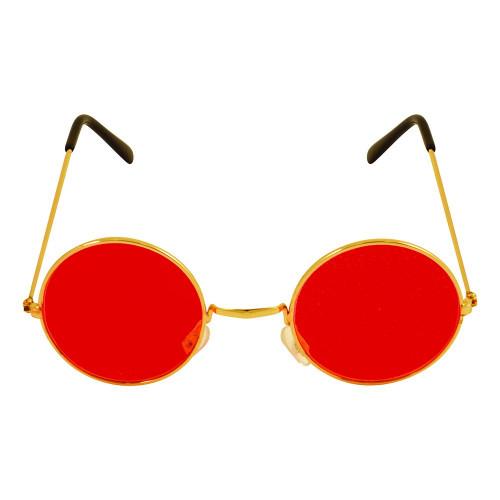 Runda Glasögon Röd