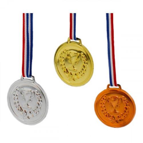 Medaljer Guld/Silver/Brons på Band - 6-pack