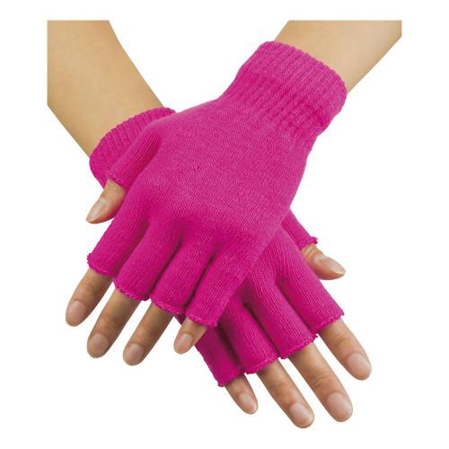Handskar Fingerlösa Neonrosa - One size