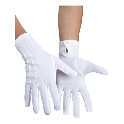 Handskar med Knapp Vita - One size