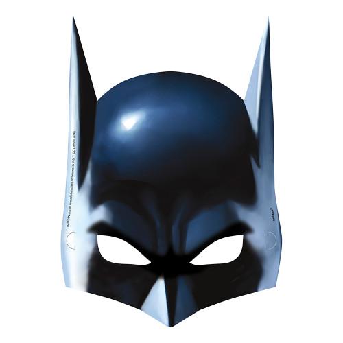 Batman Masker i Papp - 8-pack