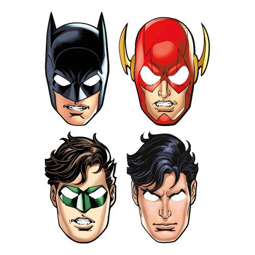 Masker i Papp Justice League - 8-pack