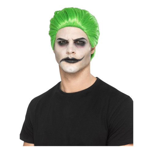 Joker Peruk Grön - One size