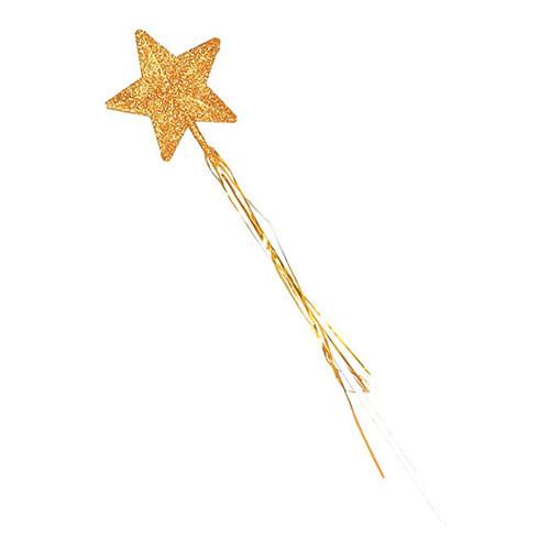 Trollstav Stjärna Guld Glittrande