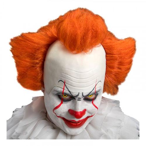 Elak Clown Peruk med Flint - One size