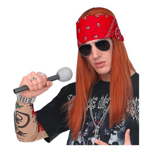Axl Rose Perukset med Bandana och Glasögon