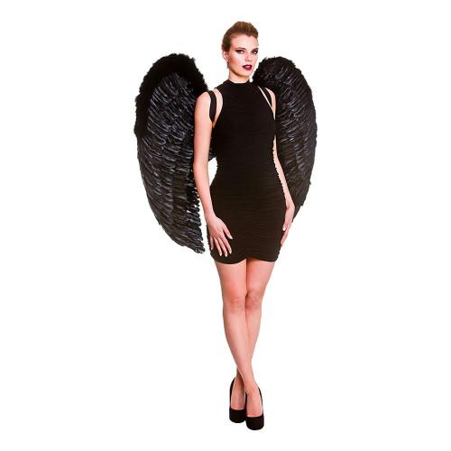 Gigantiska Fjädervingar Svart
