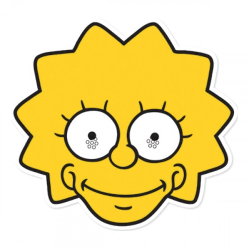 Lisa Simpson Pappmask - 1-pack