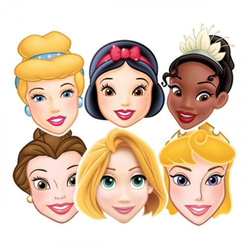 Disneyprinsessor Pappmasker - 6-pack