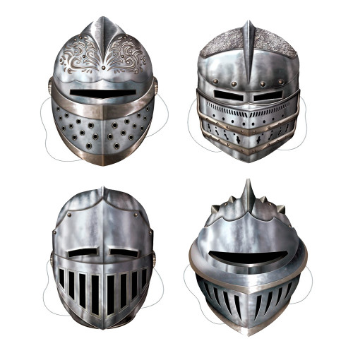 Riddare Mask Kartongfigurer - 4-pack
