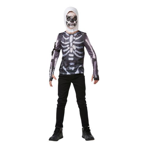 Fortnite Skull Trooper Teen Budget Maskeraddräkt