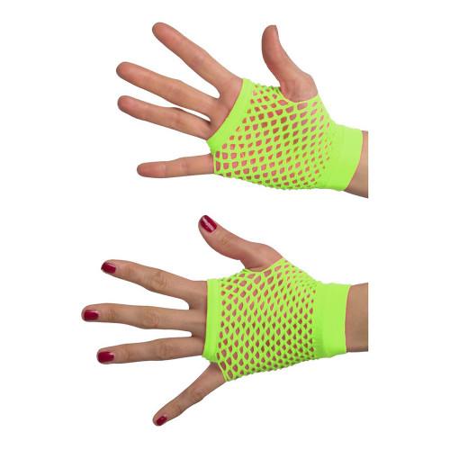 Fingerlösa Näthandskar Grön