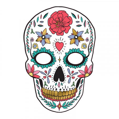 Pappersmask Dia de Los Muertos Vit - 1-pack