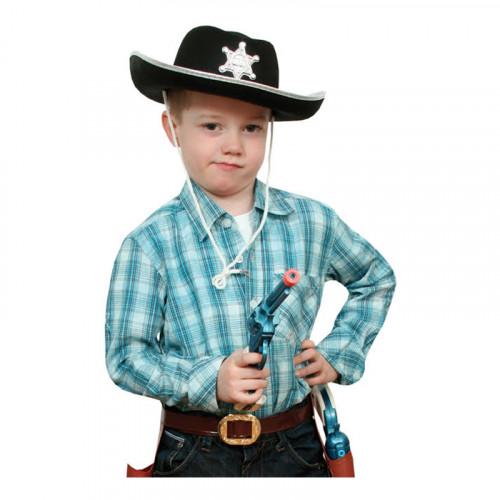 Cowboyhatt Barn Svart - One size