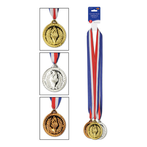 Medaljer Guld/Silver/Brons