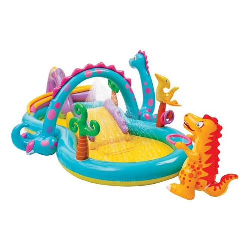 Intex Dinoland Uppblåsbart Lekland för Barn