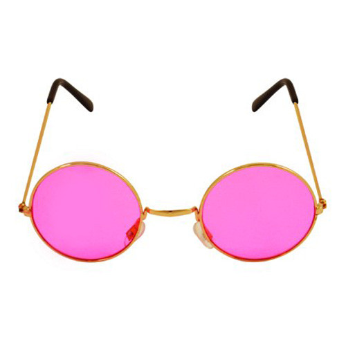 80-tals Glasögon Rosa - One size