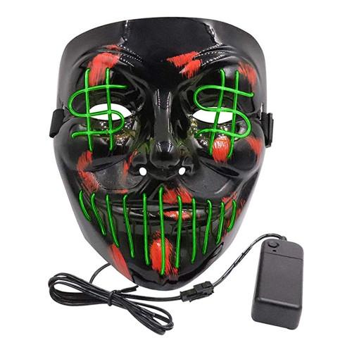El Wire Purge Dollarsign LED Mask