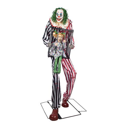 Clown med Flicka i Bur Prop