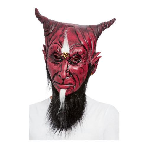 Skäggig Djävul Mask - One size